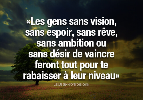 citations d'ambition